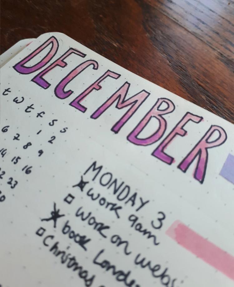 December gradient | Rosie Lewis Writes