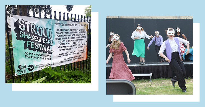 Banner for SSF, and a picture of StormCloud Arts & Theatre's cast performing