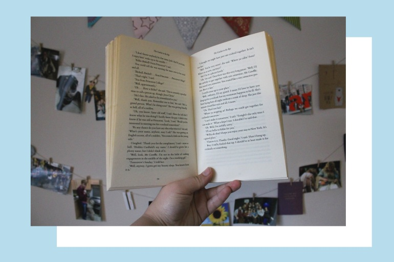 Open book - The Catcher in the Rye   Rosie Lewis Writes
