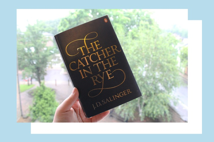 Navy and gold cover of the The Catcher in the Rye