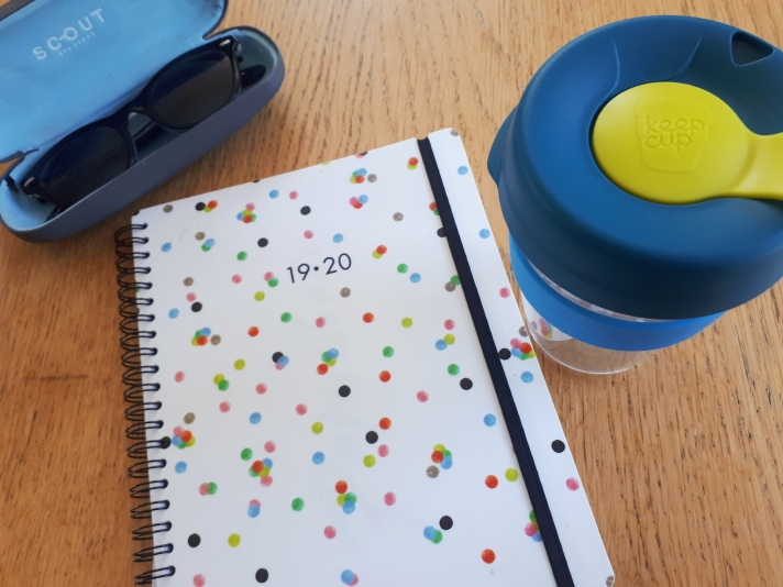 My diary for academic year 19/20, and my KeepCup