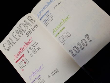 Calendar 2019 - Bujo | rosie abigail
