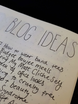 Blog Ideas Spread - BuJo | rosie abigail