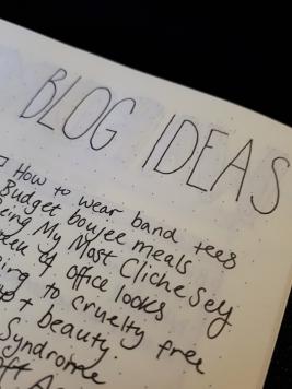 Blog Ideas Spread - BuJo | rosie abigail