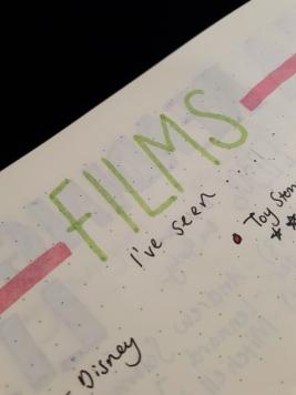 Books and Films - BuJo | rosie abigail