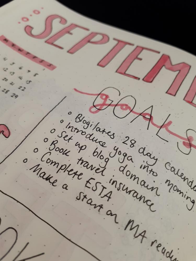 September Monthly Spread - Bujo | rosie abigail