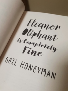 Inside cover of Eleanor Oliphant is Completely Fine - Gail Honeyman