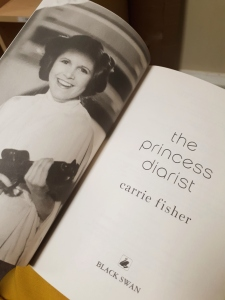 Inside cover of The Princess Diarist - Carrie Fisher