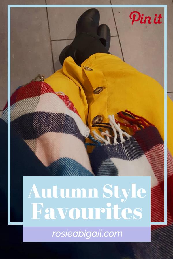 Autumn Style Favourites Pin | rosie abigail