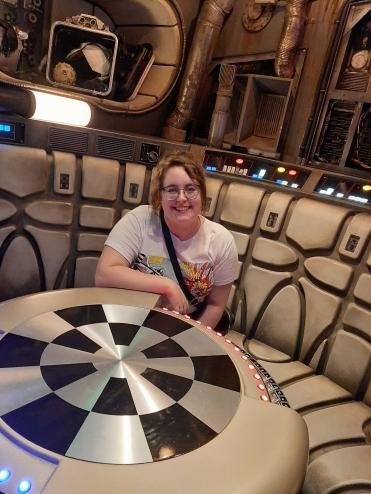 Rosie sat at the Dejarik Chess Table in the Millenium Falcon