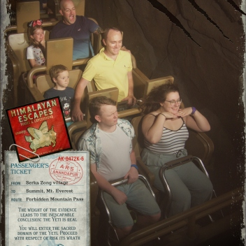 Rosie & Rory on Expedition Everest | rosie abigail