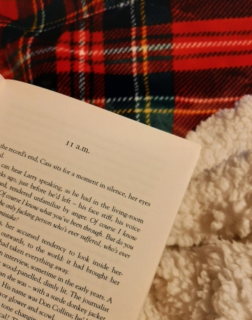 Chapter of a book against a red checkered blanket backdrop