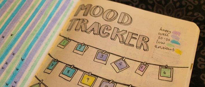 Close up of mood tracker
