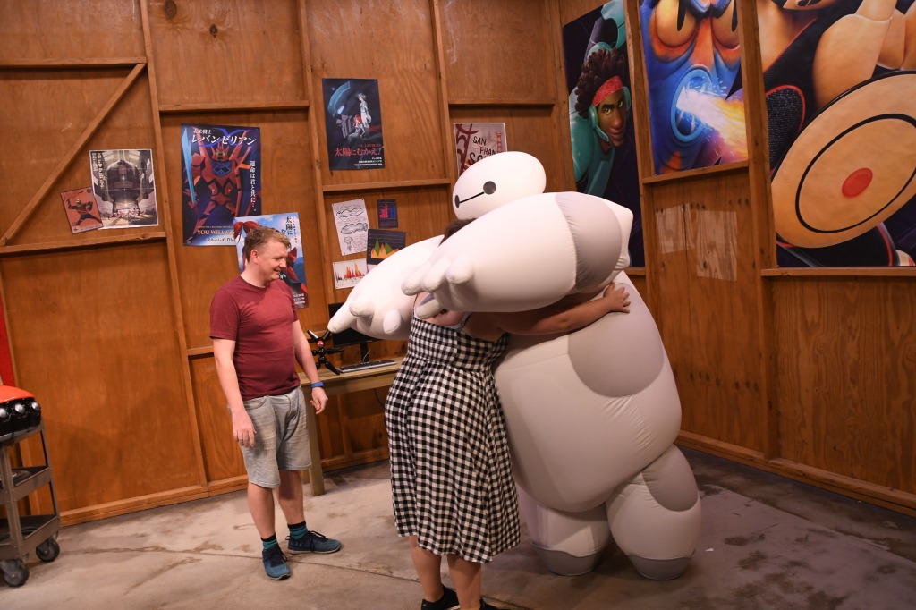 Rory and Rosie meeting Baymax, EPCOT