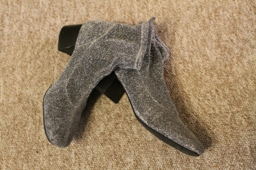 Silver boots from Primark | rosie abigail