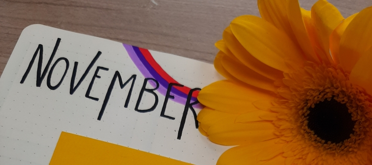 Seventies and Flower Power Themed Bullet Journal