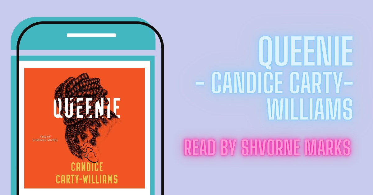 Blog graphic saying 'Queenie - Candice Carty-Williams. Read b